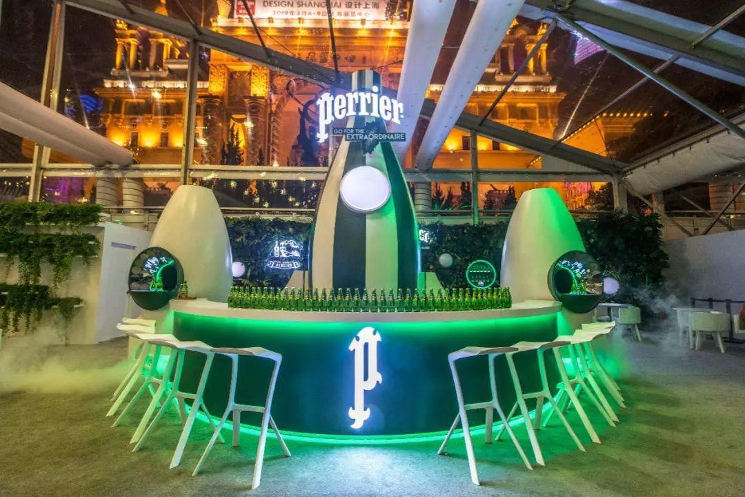 "Perrier X设计上海跨界,打造快闪""空间站"""